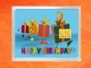 2 g gold gift bar flipmotif: Happy birthday gift