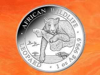 1 oz. Somalia Leopardt African Wildlife silver coin 2020 - only 30.000 mintage