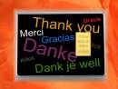 1/10 Unze Gold Geschenkbarren Motiv: Danke
