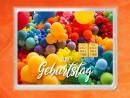 2g gold gift bar flip motif: Happy Birthday balloons