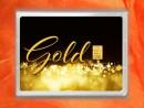 1g gold gift bar flip motif: gold instead of money EURO