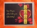1 g gold gift bar motif: Geburtstag mit Herz