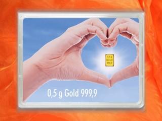 0,5 g gold gift bar flip motif: golden future