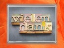 0,5g gold gift bar flip motif: Thank you - Vielen Dank