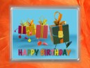 0,5 g gold gift bar flipmotif: Happy birthday gift