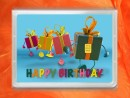 0,5 g gold gift bar flipmotif: Happy birthday gift
