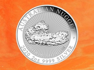 2 oz.  Australian Nugget - Hand of Faith -  silver coin Australia 2020