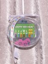 4 g gold gift bar motif: Happy Birthday candles in gift...