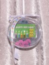 6 g gold gift bar motif: Happy Birthday candles in gift...