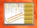 15 g gold gift bar motif: Bestandene Prüfung streamers
