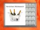 15 g silver gift bar Herzlichen Glückwunsch Champagne