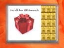 15 g gold gift bar Herzlichen Glückwunsch gift