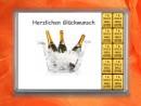 10 g gold gift bar Herzlichen Glückwunsch champagne