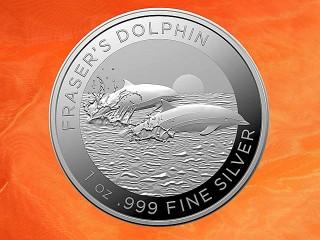 1 oz. Fraser`s Dolphin silver coin Australia RAM 2021 (mintage 25.000)