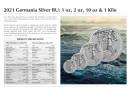 2 Unzen Germania 2021 10 Mark Silber BU (Auflage 2.500)
