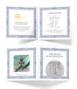 10 Unzen Germania 2021 50 Mark Silber BU (Auflage 1.000)
