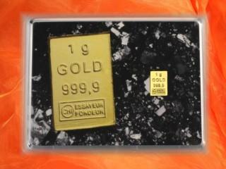 1 g gold gift bar motif gold bar