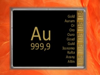 5 g gold gift bar Au international