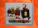 1 g gold gift bar motif: Happy birthday gift