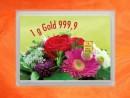 1 Gramm Gold Geschenkbarren Flipmotiv: Gold statt Blumen
