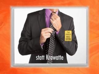1 Gramm Gold Geschenkbarren Flipmotiv: Gold statt Krawatte