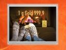 1 Gramm Gold Geschenkbarren Flipmotiv: Gold statt Socken