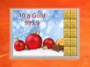 10 g gold gift bar flip motif: Merry Christmas