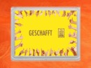 1 g gold gift bar flip motif: Gratulation Geschafft