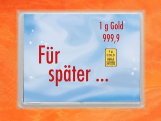 1 Gramm Gold Geschenkbarren Flipmotiv: Für später