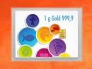 1 Gramm Gold Geschenkbarren Flipmotiv: Zur Kommunion