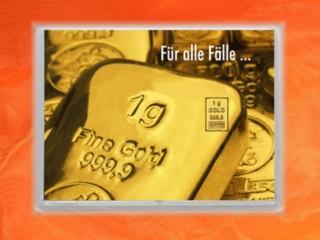 1 Gramm Gold Geschenkbarren Flipmotiv: Für alle Fälle Barren
