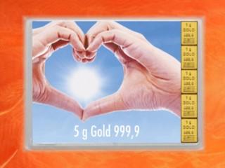 5 Gramm Gold Geschenkbarren Flipmotiv: Goldene Zukunft