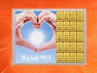 20 Gramm Gold Geschenkbarren Flipmotiv: Goldene Zukunft