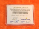 1 g Platinum gift bar flip motif: nugget