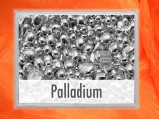 1 g Palladium gift bar flip motif: nugget