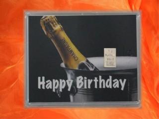 Geburtstag - Happy birthday Champagner