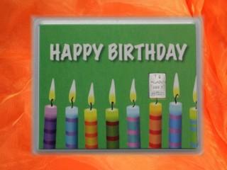 Geburtstag - Happy birthday Kerzen